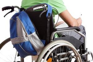 gehandicapte schooljongen foto