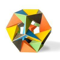 kleurrijke icosaëder foto