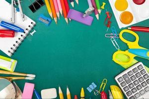 school, rug, notitieboek foto