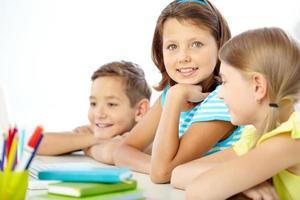 schattig schoolmeisje foto