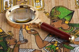studie van de Egyptische papyrus. variant twee. foto