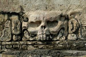 het symbool van deth in Maya-overtuigingen
