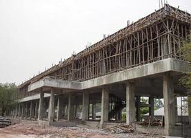 gebouw in aanbouw in een school foto