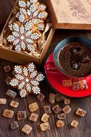 Kersttijd samenstelling met koekjes foto