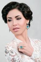 portret van mooie vrouw bruiloft model foto