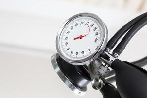bloeddrukmeter met gebogen indicator naald foto