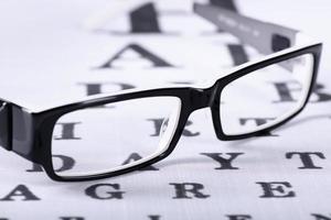 zwarte bril lezen foto