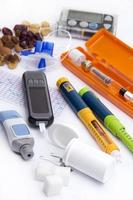 diabetische items set (alles wat u nodig heeft om diabetes onder controle te houden) foto