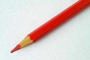 rood potlood foto