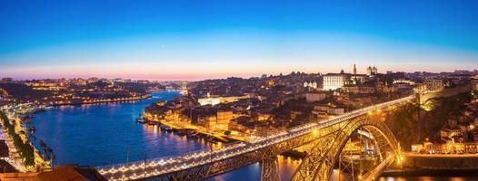 panorama van dom luiz bridge foto