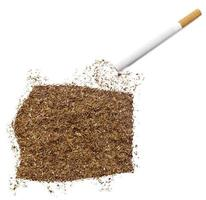 sigaret en tabak in de vorm van equatoriaal-guinea (serie) foto