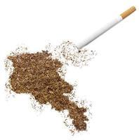 sigaret en tabak in de vorm van Armenië (serie) foto