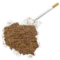 sigaret en tabak in de vorm van polen (serie) foto