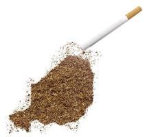 sigaret en tabak in de vorm van niger (serie) foto