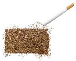 sigaret en tabak in de vorm van South Dakota (serie) foto