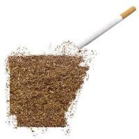 sigaret en tabak in de vorm van arkansas (serie) foto