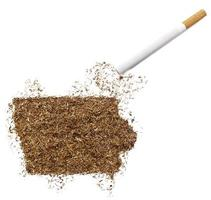 sigaret en tabak in de vorm van iowa (serie) foto
