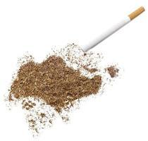 sigaret en tabak in de vorm van singapore (serie) foto