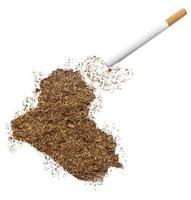 sigaret en tabak in de vorm van Irak (serie) foto