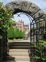 stenen poort toegang tot kasteel tjolöholm foto