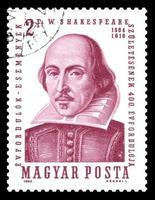 hongarije postzegel william shakespeare foto