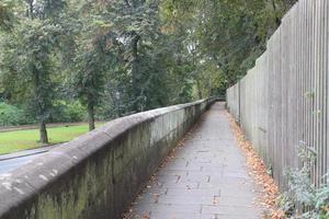 het stadscentrum van Chester - de stadsmuren van Chester foto