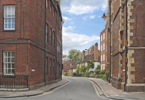 kleine straat in eton, Engeland foto