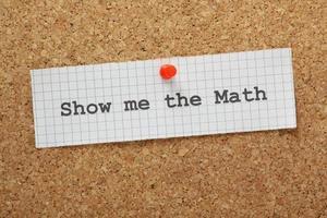 laat me de wiskunde zien foto