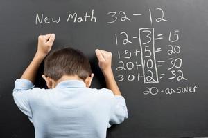 gefrustreerd over de nieuwe wiskunde. foto