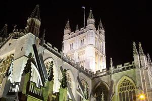 Bath Abbey 's nachts foto