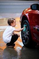 auto wassen foto