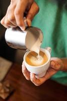 cappuccino met latte art