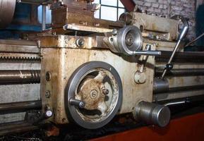 details en mechanismen van de draaibankclose-up. grange foto