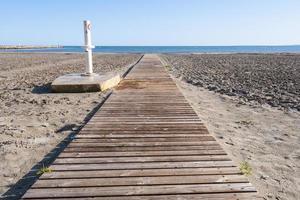 houten loopbrug foto