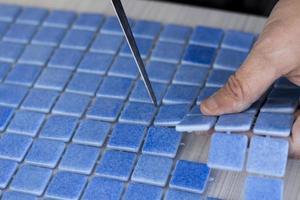 productie van mozaïektegels