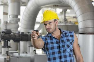 industriële ingenieurs ter plaatse foto