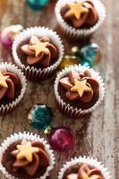 kerst cupcakes foto