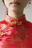 Chinese zijden stof foto