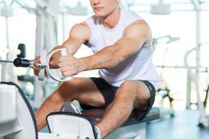 trainen in de sportschool. foto