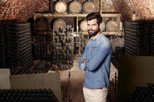 jonge wijnmaker foto