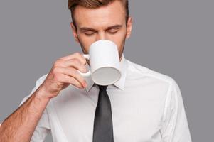 eindelijk koffiepauze. foto