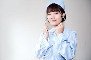 verpleegsters in het werk glimlachen