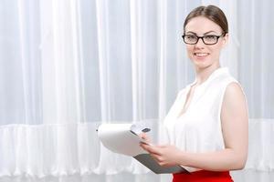 portret van een vrouwelijke psycholoog foto