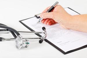 medisch dossier foto
