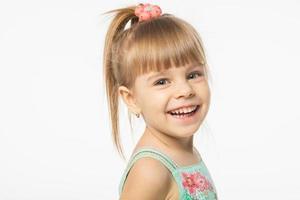 schattig blond meisje foto