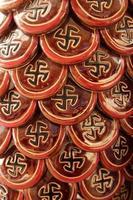 swastika - een symbool van harmonie, eenheid en krachtelementen foto
