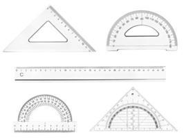 plastic liniaal wiskunde meetkunde schoolonderwijs foto