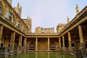 Romeinse baden, Bath, Engeland foto