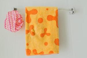 badkamerrail om op te hangen foto
