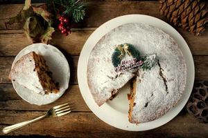 kerst fruit cake foto